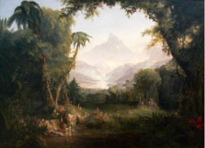 The Garden of Eden by Thomas Cole. Public Domain via WikiMedia.