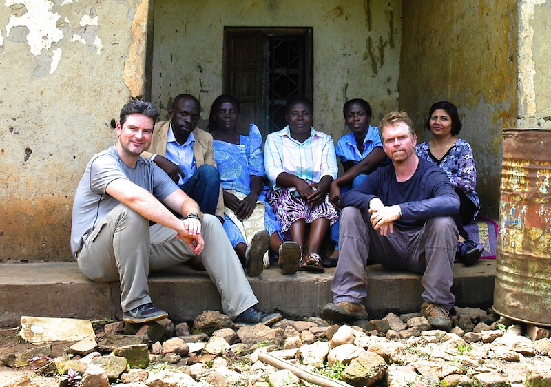Food Evolution film makers Trace Sheehan and Scott Kennedy Hamiltion in Uganda with farmers and scientists.